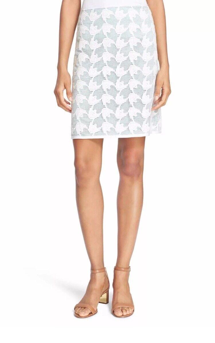Tory Burch  Pierce  Mesh Lace Pencil Skirt Size 14  275 NWT