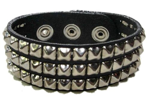 Mini Three Row Studded Punk Gothic Bracelet Dark Death Rock Thrash Metal