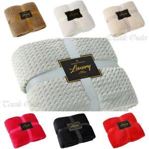 Canapé lit jette Extra Large Couverture en polaire chaud Luxe Double King Size Popcorn