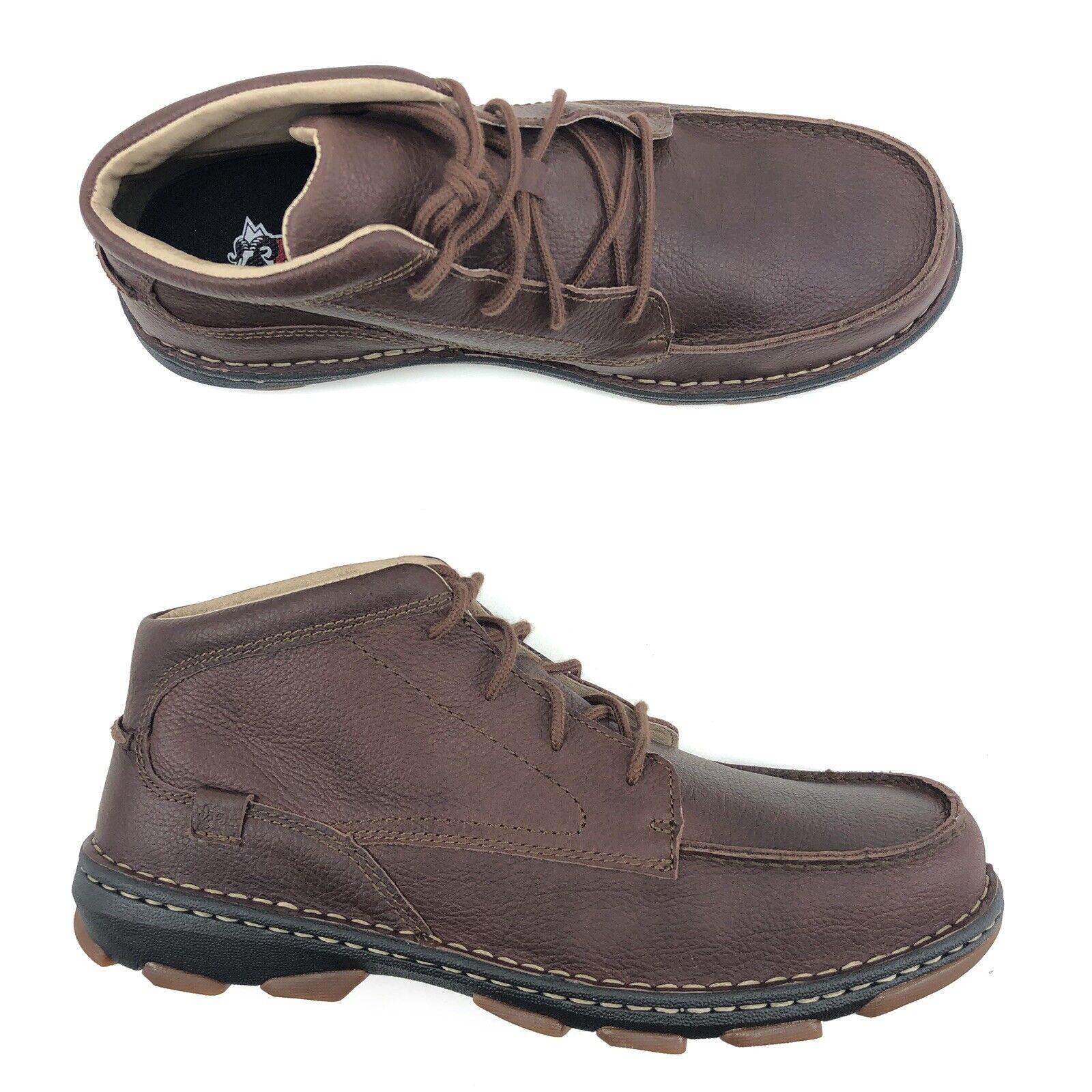 Rocky Boots Cruiser Casual Chukka Brown Full Grain Leather Men Size 10
