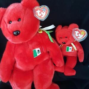 Ty Beanie Baby and Buddy Osito Mexican Flag Bear 4244 Plush1999 ... 3d46284ec67c