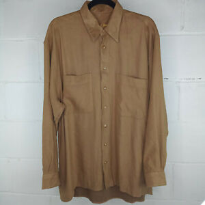 Jack-Lipson-Casual-Button-Down-Shirt-Men-Brown