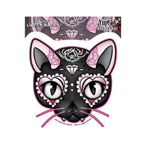 Pink-Cat-Sugar-Skull-Car-Decal-Sticker-Miss-Cherry-Martini