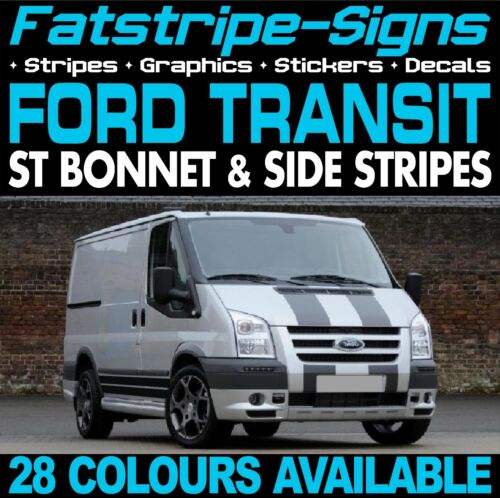 FORD TRANSIT ST BONNET /& SIDE STRIPES GRAPHICS STICKERS DECALS MK6 MK7 M SPORT