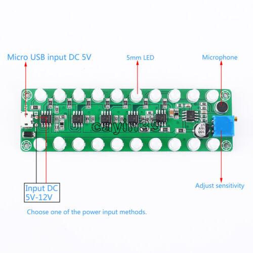 1PCS RGB LED Music Spectrum Display Analyzer Voice Audio Level Indicator VU