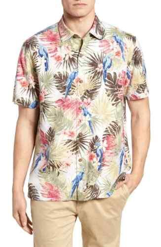 Tommy Bahama Camp Shirt Marino Paradise Coconut 100/% Silk 2XL XX-Large NWT.