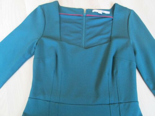 Dress x Ladies size 6r Shift Neck Sweetheart Boden teal wFqI8I