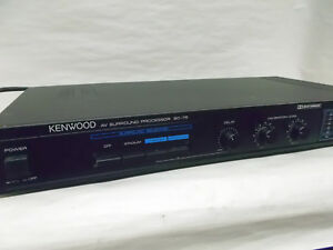 Used Vgc Kenwood Av Surround Processor Sc 75 Clean Unit