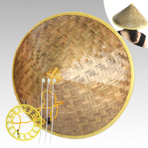 Chinese Vietnamese Japanese Coolie Bamboo Cone Sun Hat for Farmer Garden Fishing