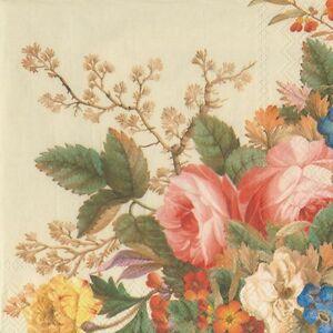 20 Vintage Floral Paper Napkins Serviettes Decoupage Ebay