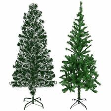 Realistic Green Christmas Trees 2/4/5/6/7ft  Xmas Festive Decoration Snow Tipped