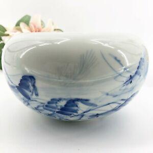 Rare-Master-Tsai-Shiau-fang-Blue-White-Shrimp-Design-Ceramic-Bowl-Planter-Pot