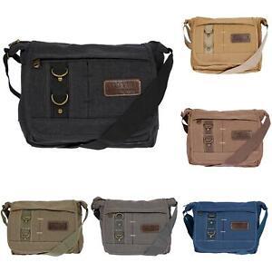 Damen-Tasche-Canvas-Umhaengetasche-Schultertasche-Crossover-Bag-Damenhandtasche