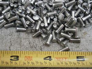 3//16 X 1//2 Semi Tubular Rivet Brass 7-8 Brake Lining 200 Pcs 3//8 Head