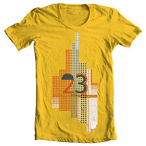 Details About Yellow 23 Jordan Cubism Tetris Skyscraper Birthday Illusion Style T Shirt