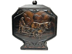 Circa-1910-Antique-Biscuit-Tin-COUNTRYSIDE-Huntley-amp-Palmers