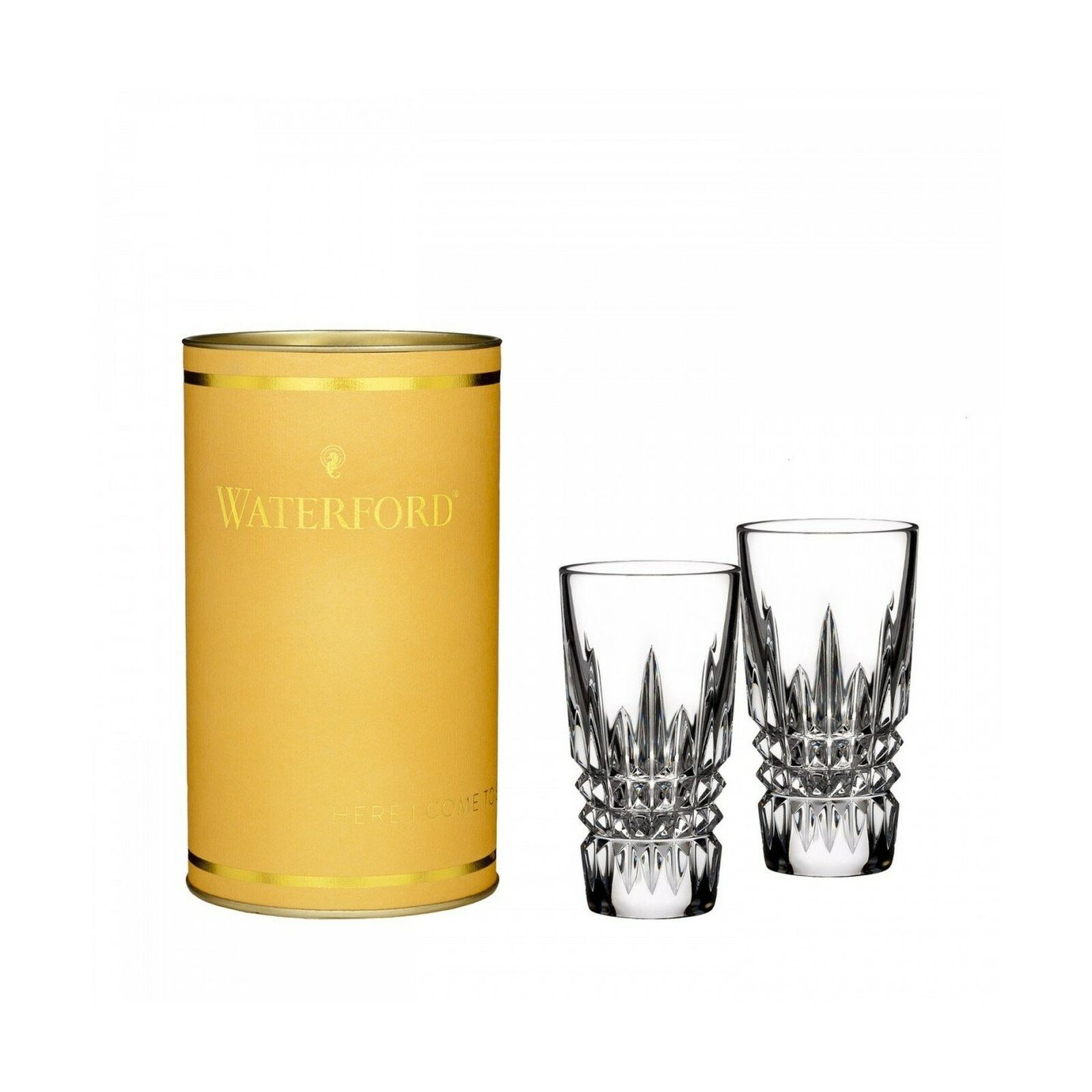 WATERFORD CRYSTAL giftology Lismore Diamant Verre, Paire Aucun Clair