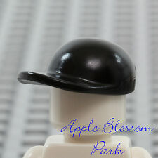 NEW Lego City Boy/Girl Minifig BLACK BASEBALL CAP Head Gear Hat w/Curved Brim