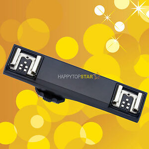 1 To 2 Ttl Hot Shoe Hotshoe Splitter Extend Bracket For Canon 5d 6d 580ex 600ex Conduire Un Commerce Rugissant