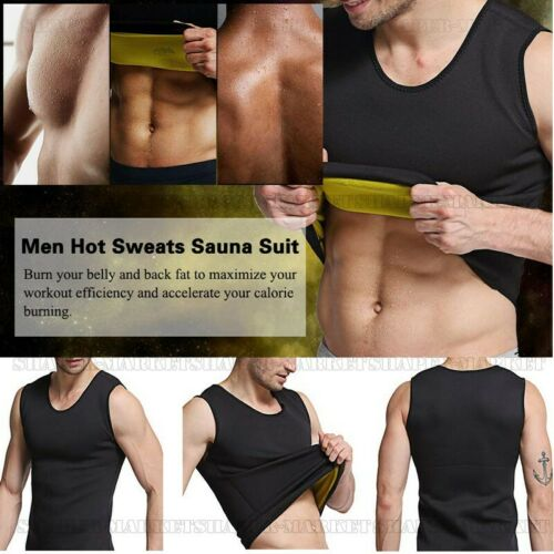 Slimming Neoprene Vest Hot Sweat Shirt Body Shaper for Weight Loss Men Underwear