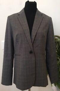 Polyester Gray M Adrienne Stripe Vittadini Size Nwt Women's Blend Blazer Jacket n6RPZWq
