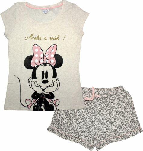 Disney Minnie Mouse Ladies Make a Wish Short Sleeve Pyjamas Set