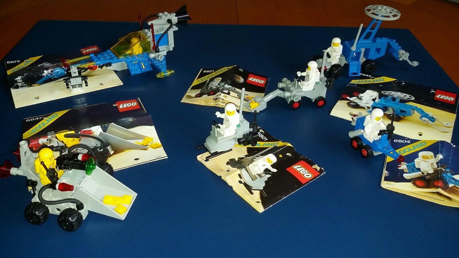 LEGO  SPACE CLASSIC aus den 80ern 6 komplette Bausätze