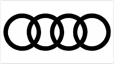 Provinyl Aufkleber f/ür Audi Sline Quattro 2 St/ück gold 29 x 3 cm