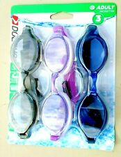 Dolfino Swimming Goggles Adult Pacesetter Latex UV Protection Set of 3 for sale online