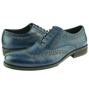 """Jump """"Vickers"""" Wingtip Oxford, Dress/Casual Men's Leather Shoes, Navy (8-13US)"""