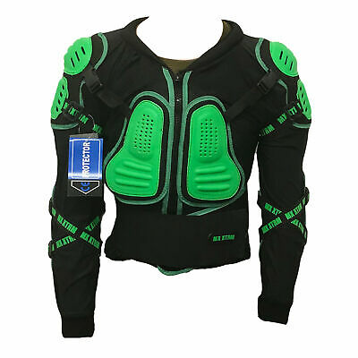 CE APPROVED XTRM Motorbike Adult Motocross Enduro Off Road Body Armour Black Racing and Sport Body Armour Deflector