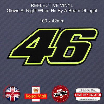 FLUORESCENT Green 46 Sticker Decals Black Vinyl 100mm F109