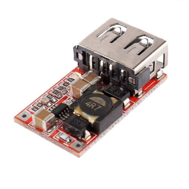 5Pcs DC 6-24V 12V//24V to 5V 3A CAR USB Buck step down Converter Charger Module