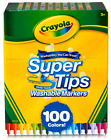 Crayola BIG Box 100 SuperTips Colors Washable Markers Art Crafts Draw Super Tips
