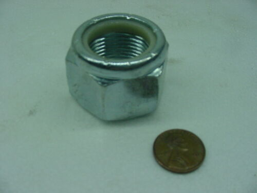 "1/""  X  14 thread  TPI LOCK NUTS zinc plated stop nylon axle shaft  NS"