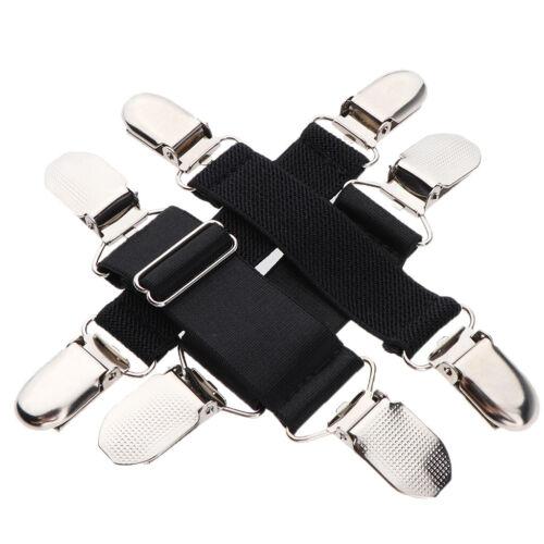 2Pairs Kids Toddler Mitten Elastic Band Glove Metal Clip Keep in Place Black