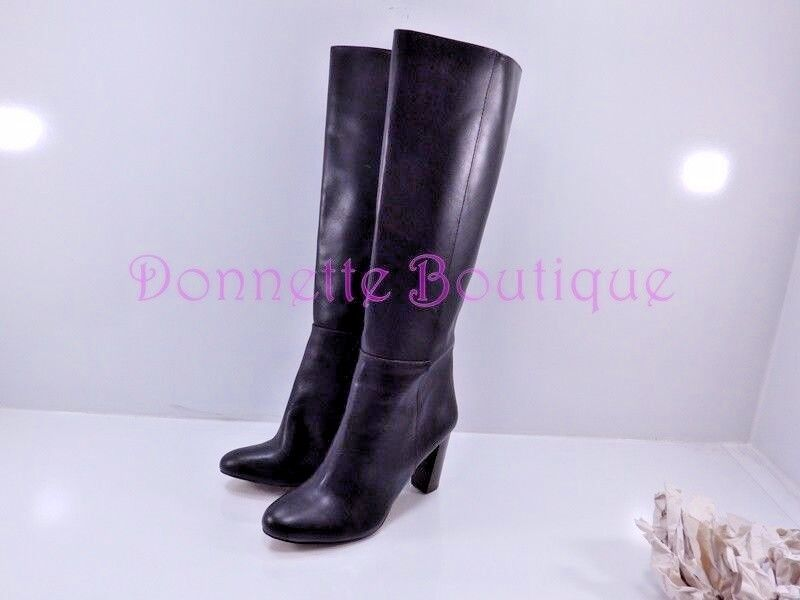 Ann Taylor Braun Smooth High Leder High Heel Knee High Smooth Side Zip Stiefel Größe 8.5 EXUC c7d4cf