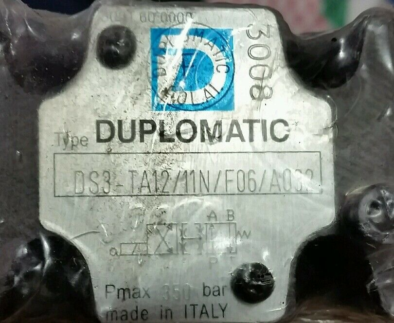 DUPLOMATIC DS3 DS3 DS3 ta 12/11N/FO6 hydraulique Electrovanne cb9099