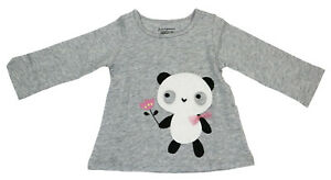 First Impressions Baby Girls Long Sleeve T-Shirt Panda