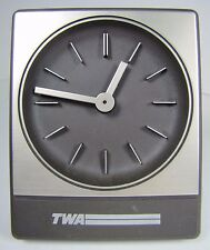 Original Vintage TWA Advertising Clock Trans World Airlines retro Germany