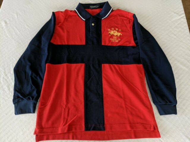 Vtg Shirt County Long Ridersamp; Sleeve Polo Sz Lauren Ralph 381 Jockey Club Xl dshQrtC