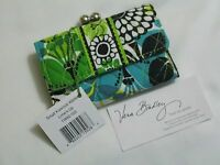 Vera Bradley Limes Up Small Kisslock Clutch Wallet Coin Case For Purse Tote