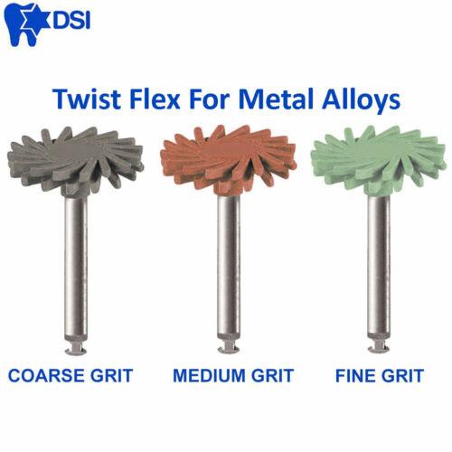3x DSI Twist Jewelry Radial Abrasive Discs Polishing For Metals Alloys