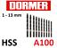 DORMER A100 HSS Jobber Drills Metric Steam Tempered High Speed Steel Drill Bits