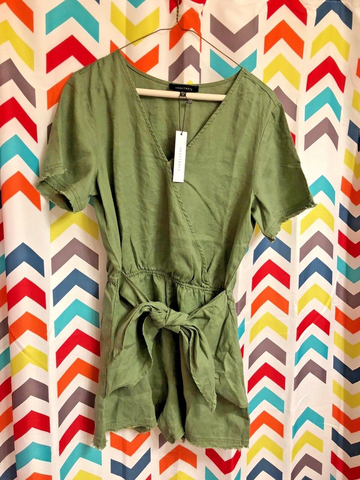 SANCTUARY New with Tags Date Palm Romper Cadet Army Green Medium M