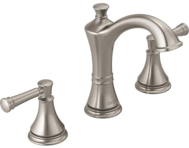Delta Valdosta Spotshield 2 Handle Widespread Bathroom Faucet Brushed Nickel