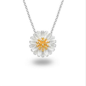 Silver-Plated-Flower-Necklace-Daisy-Clavicle-Chain-Chain-Women-Pendant-j