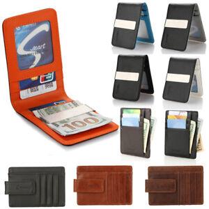 YOOMALL-Mens-Leather-Money-Clip-Magnet-Front-Pocket-Wallet-Slim-ID-Card-Holder