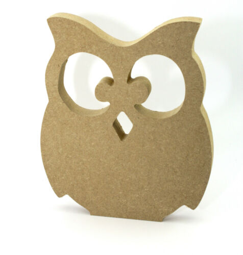 15cm High 18mm Thick CHUNKY MDF FREESTANDING OWL