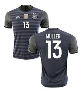 huge discount 17ca8 00e9b Details zu Trikot Adidas DFB 2016-2018 Away - Müller [128 bis XXL] Fußball  EM Deutschland